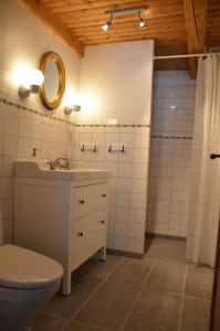 Nyrenoverat badrum med dusch